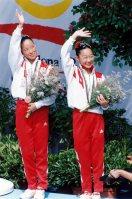 【1992バルセロナ五輪】シンクロソロで銅メダルを獲得していた奥野史子は「きのうの銅と比べて格別にうれしい銅です」と涙ぐんだ