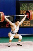 【1992バルセロナ五輪】重量挙げ82.5キロ級の砂岡良治。155キロスナッチを成功させたが競技では失格となった