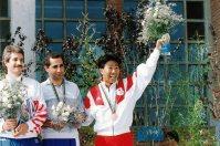 【1992バルセロナ五輪】射撃男子フリーライフルで木場良平が銅メダル。「光GENJIの『リラの咲くころ バルセロナへ』を口ずさんで精神集中した」と話した