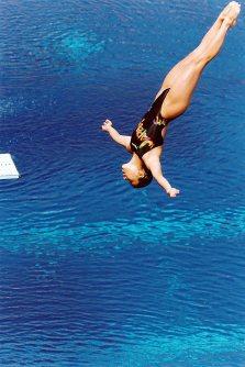 【1992バルセロナ五輪】女子高飛び込みで26位の元渕幸。板飛び込みは4位で予選を通過したものの決勝は11位に終わった