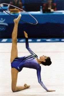 【1992バルセロナ五輪】新体操個人総合で優勝した旧ソ連連合チーム(EUN)のティモシェンコ