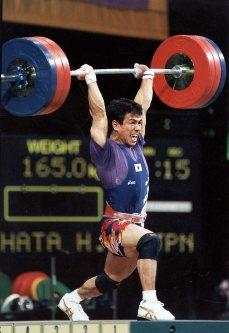 【1996アトランタ五輪】重量挙げ59キロ級の池畑大が4位入賞。スナッチ(132.5キロ)、ジャーク(165キロ)は日本新=佐藤泰則撮影