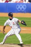 【2000シドニー五輪】野球予選リーグの韓国戦に先発した松坂大輔。試合は6―7で敗れた=中村琢磨撮影
