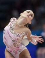 【2000シドニー五輪】新体操個人総合決勝で金メダルのユリア・バルスコワ(ロシア)=平野幸久撮影