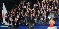 【2012ロンドンパラリンピック】164の国と地域から約4300人が出場し20競技503種が行われた。日本選手団は旗手の木村敬一を先頭に入場した。日本は金が5個、銀が5個、銅が6個のメダルを獲得=木葉健二撮影