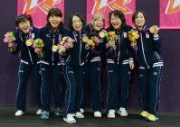 【2012ロンドンパラリンピック】ゴールボール女子で金メダル=木葉健二撮影