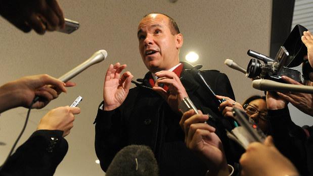 オリンパス元社長のマイケル・ウッドフォード氏。オリンパスの過去の不正を調査したことで社長を解任された=2011年11月23日、久保玲撮影