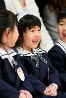 震災から4年1カ月。4歳の誕生日に幼稚園に入園した藤井稟ちゃんは、よく笑う活発な女の子に成長していた。将来の夢は「看護師さん」=宮城県石巻市で2015年4月11日、森田剛史撮影