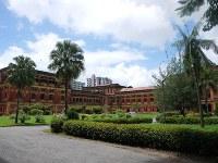 ヤンゴンの中心街にある英植民地時代の旧ビルマ政庁舎=春日孝之撮影