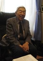 IgEの発見から50年を振り返る石坂公成さん=山形市で、下桐実雅子撮影