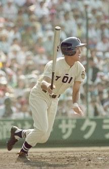 高橋由伸(桐蔭学園)=1991年8月15日撮影