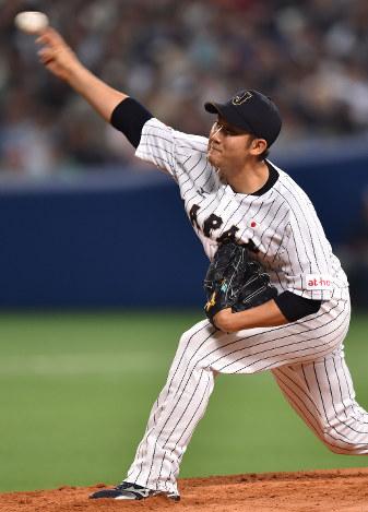 野球日本代表:菅野30球、3回無失点…強化試合、快勝 - 毎日新聞