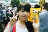東京ディズニーランドで2009年9月に撮影された成田絵美さんの写真=家族提供