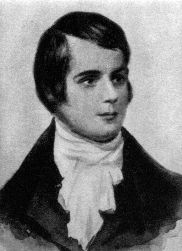 スコットランドの詩人、ロバート・バーンズ