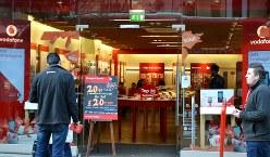 ロンドン市内のケータイショップ=写真はいずれも筆者撮影