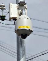 湊地区に設置された防犯カメラ=和歌山市湊2で、倉沢仁志撮影
