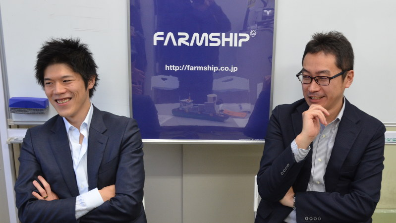 ファームシップの安田瑞希代表取締役(左)と北島正裕代表取締役