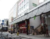 県内の商業地で最高地価となった盛岡市大通2の3の5周辺=同市で