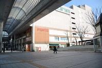 県内商業地の公示地価で32年連続トップとなった「フォンテAKITA」周辺=秋田市中通2で