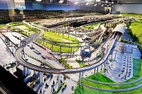 A model railroad at the Kyoto Railway Museum is seen upon its unveiling to reporters on April 1, 2016, in Kyoto's Shimogyo Ward. (Mainichi)