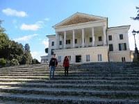 ローマ中心部のトルロニア公園内にあるムソリーニの白亜の元邸宅「貴族の館」