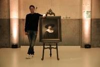 レンブラントの作風を人工知能などを用いて解析し、3Dプリンタで創作した肖像画=ING社提供