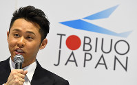 引退会見で記者の質問に答える北島康介選手=東京辰巳国際水泳場で2016年4月10日、三浦博之撮影