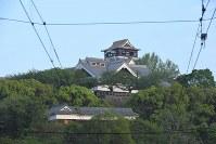 地震で損壊した熊本城=熊本市中央区で2016年4月16日午前6時32分、和田大典撮影