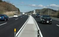 国道4号金ケ瀬拡幅事業で一部4車線化された蔵王町宮地区の国道