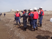 5人が亡くなった水難事故のあった上下浜海岸をパトロールする消防署員ら=上越市柿崎区で