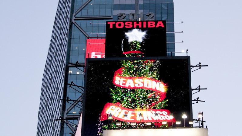 米ニューヨークのタイムズスクエアで、2012年撮影