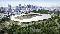 An image view of the New National Stadium, which will serve as the main stadium for the 2020 Tokyo Olympics and Paralympics. (Image provided by Japan Sport Council)