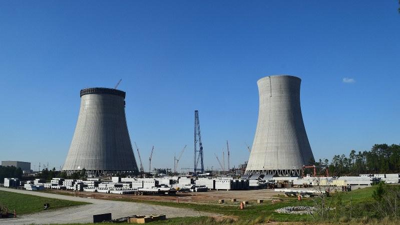 米南部ジョージア州で建設が進むボーグル原発=2016年3月28日、清水憲司撮影