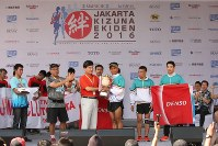 ジャカルタ絆駅伝2016=インドネシア・ジャカルタで2016年5月15日、松田嘉徳撮影