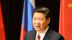 中国の習近平国家主席=モスクワ市内で2013年3月、隅俊之撮影