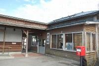 12月に廃止される増毛駅の駅舎=北海道増毛町で、1日午後、庄司哲也撮影