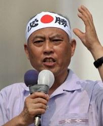 舛添要一 新党改革代表=徳島市で2010年6月24日午前9時、宮間俊樹撮影