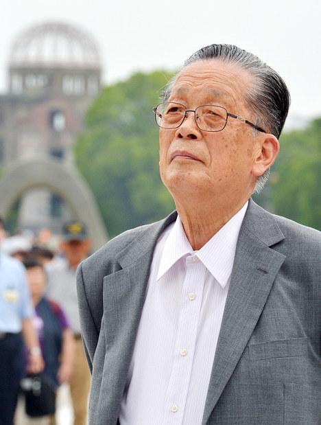 Sadao Yamamoto in Hiroshima. (Mainichi)