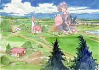 「魔女の宅急便」イメージボード1989年(C)1989角野栄子・StudioGhibli・N=筆の里工房提供