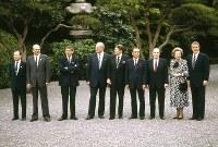 1986年、東京で7年ぶり2度目の先進国首脳会議(サミット)が3日間の日程で行われた=1986年5月4日撮影