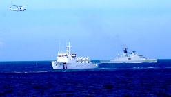 南シナ海で実施された台湾の軍事演習=2013年5月16日、鈴木玲子撮影