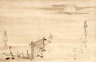 新たに見つかった松尾芭蕉の句自画賛「朝顔に」=兵庫県伊丹市の柿衞文庫で2016年6月2日、幾島健太郎撮影