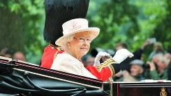 英国のエリザベス女王=2015年6月撮影