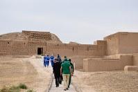 紀元前3世紀から紀元3世紀、パルティア王国の初期の首都として栄えたニサ遺跡(旧ニサ)=トルクメニスタンで5月5日、山本太一撮影