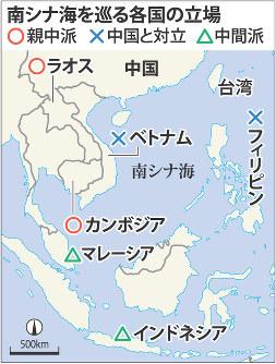 南シナ海を巡る各国の立場