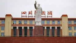 中国・成都の毛沢東像