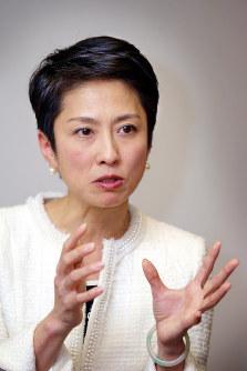 蓮舫氏=東京・永田町で2016年4月8日、水本圭亮撮影