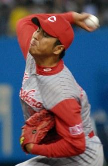 【阪神-広島】7回1失点と好投した広島・黒田博樹=2007年3月30日、小関勉撮影