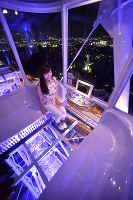 A nightscape viewed from the Redhorse Osaka Wheel in Suita, Osaka Prefecture, is pictured on June 23, 2016. (Mainichi)