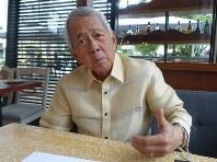 パーフェクト・ヤサイ次期外相=フィリピンの首都マニラで、岩佐淳士撮影